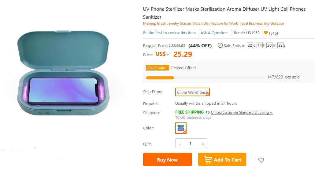 UV Phone Sterilizer Masks Sterilization Aroma Diffuser
